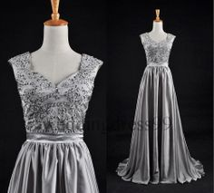silver long formal dress bridesmaid dresses for winter wedding maybe