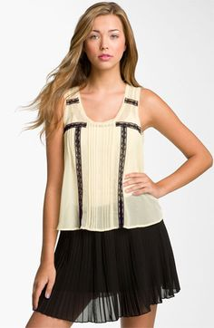 Lush Lace Pintuck Tank (Juniors) available at #Nordstrom