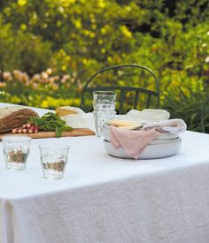 Classic Hemstitch Linen Tablecloth - Madison