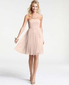 I'm learning all about Ann Taylor Bridesmaid Dresses Point D'Esprit Strapless Dress at @Influenster! @AnnTaylor