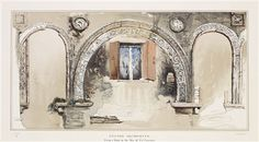 John Ruskin, Examples of Architecture of Venice, Stilted Archivolts of a Byzantine Ruin in the Rio ci Ca' Foscari. Architectural Features, Architectural Drawings, How To Draw Tears, Pre Raphaelite Brotherhood, Birmingham Museum, John Everett Millais, John Ruskin, Museum Art Gallery, Building Illustration