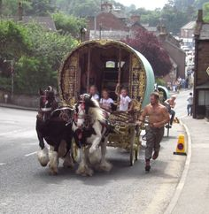 Appleby.  Appleby is one of the largest horse faires in England.  People travel from all over to attend.  LLK