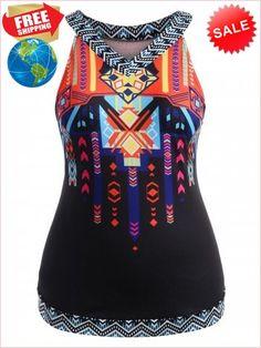 292e148e5a511 Best Prices Plus Size Tribal Print Tank Top 2220200 o637uzyKIdDkRLUNJvZ0  Cheap Sale  RoseGal.com