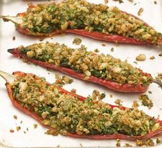 Baked stuffed Romano peppers | BBC Good Food