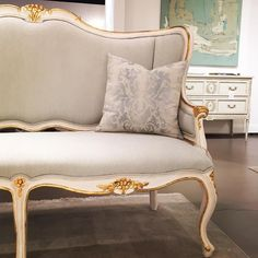 Details, details, details of Ave Home's Regent Settee! Lovely shot by Courtney of the French Country Cottage blog at the Las Vegas Market.