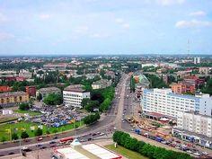 Калининград. Центральная улица города - Ленинский проспект. Фото ок. 2004 года.