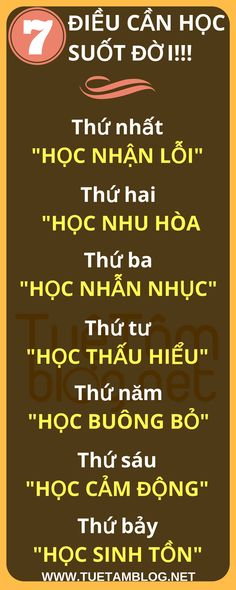 7 ĐIỀU CẦN HỌC SUỐT ĐỜI - INFOGRAPHIC #infographic #life Kite Quotes, Life Skills, Life Lessons, Cool Words, Truth Of Life, Life Is Beautiful, Personal Development, Life Is Good, Best Quotes