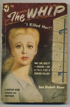 vtg pulp fiction book novel 1950 The Whip pin up cover murder mystery fiction