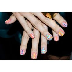 Photo 6- Inspiring Nail Art From Real L.A. Girls found on Polyvore