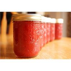 Rhubarb Strawberry Jam / 5 cups rhubarb, 2-3 cups sugar, 1 small package strawberry jello. Boil at least 10 minutes.