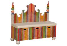 Classic Bench With Storage-would love this for the nursery---maybe I can make from an old headboard?