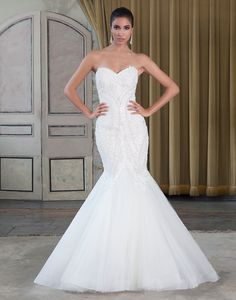 Justin Alexander signature wedding dresses style 9784 Beaded Venice lace and tulle mermaid embellished by a sweetheart neckline.