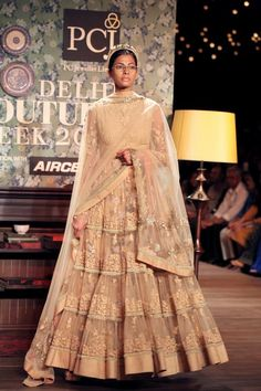 A model walks the ramp for Sabyasachi Mukerjee at PCJ Delhi Couture Week 2012