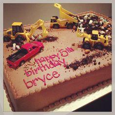 Construction birthday cake  Cami's Cake Co. - Eudora, KS www.facebook.com/camiscakeco