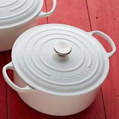 Limited edition white Le Creuset - take an additional 20% off with free shipping - use code: USA20 http://rstyle.me/n/k33urnyg6