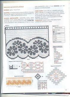 crochet - cortinas - curtains Crochet Curtain Pattern, Crochet Curtains, Curtain Patterns, Lace Curtains, Crochet Doilies, Valance, Irish Crochet Patterns, Crochet Borders, Crochet Designs