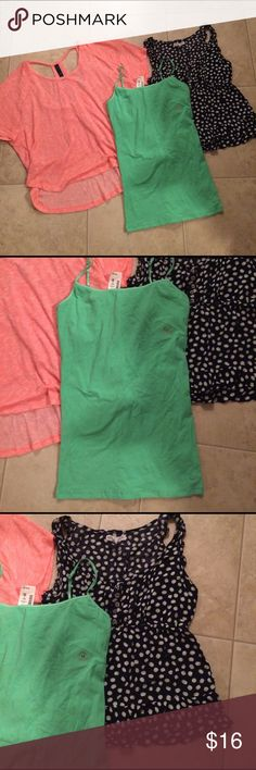 """$8 Aeropostale spring top lot All in excellent condition! Cami is nwt. :)✔The price in the beginning of the title of my listings is the bundle price. These prices are valid through the """"make an offer"""" feature after you create a bundle. These bundle orders must be over $15. Ask me about more details if interested.  ❌No trades ❌No holds Aeropostale Tops"""