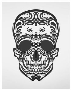 Illustration by B.media: I love skulls and the justaposition of scary/tough vs feminine and pretty