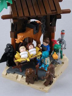 This would have been acceptable! LEGO Star Wars Nativity - complete with 3 Wise Bounty Hunters! I must own these! http://www.babypron.com/baby-store