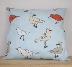 Seagull Cushion - Blue