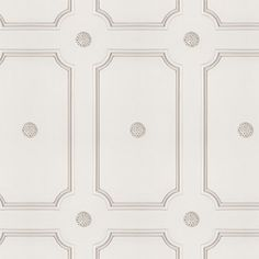 Cream Georgian Dot Panelling Wallpaper- Simple yet striking, this elegantly proportioned pattern recalls the days when harmony and symmetry were valued above all. The delicate touch of the Georgians is reflected in the liberating choice of colourways.