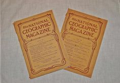 1908 National Geographic Magazines, March April 1908 Illustrated Historical Non Fiction, Historic Alaskan Boundary, Inca Highway, Hawaii - SOLD! :)