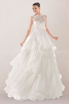 immortal-princess-wedding-gown-featuring-lace-overlay-and-tiered-ruffles