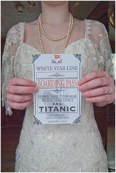 Titanic themed wedding!?
