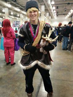 Kristoph from Frozen @AnimeBoston 2014  sc 1 st  Pinterest & Frozen Kristoff Tunic Pants Hat Version A Adult Men Costume | Sewing ...