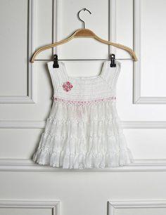Receitas Círculo - Vestido Infantil Branco e Rosa
