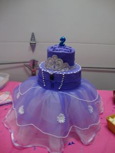 Sophia the First Cake