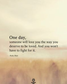 One Day, Someone Will Love You