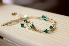 Items similar to gold necklace, gold and emerald (crystal) necklace, emerald necklace, gold filled necklace, Swavoski emerald on Etsy Emerald Necklace, Crystal Necklace, Gold Necklace, Trendy Necklaces, Fashion Necklace, Beaded Bracelets, Crystals, Unique Jewelry, Handmade Gifts