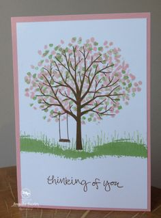Stampin' Up! UK Sheltering Tree card by Amanda Fowler of Inspiring Inkin'
