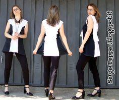 SergerPepper - Black and White - dress- challenge