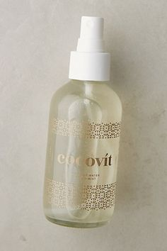 Cocovit Facial Mist --nourishing powers of coconut oil, Cocovit continues the 5,000-year-old Indian tradition of using this natural ingredient to nourish and heal. Key ingredients: coconut water, aloe vera water, witch hazel, dead sea salt, coconut oil, honeysuckle, essential oils