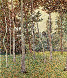 Léo Gausson (French, 1860-1944), Sous-bois, 1888. Oil on panel, 32 x 27 cm.