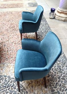 velvet armchairs