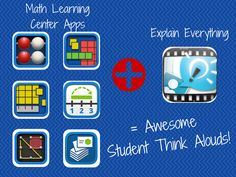 App Smashing: Various Math apps and Explain Everything - Math Think Alouds from Meghan Zigmond