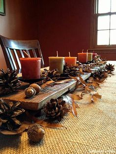 Top 100 Informal and Inexpensive Thanksgiving Table Decorations to Make 044 , - Thanksgiving Decorations Thanksgiving Decorations, Seasonal Decor, Holiday Decor, Diy Thanksgiving, Thanksgiving Tablescapes, Decoration Table, Table Centerpieces, Centerpiece Ideas, Table Halloween