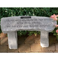 Exceptionnel Personalized Bench For Garden Memorials