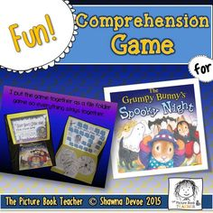 Have fun practicing comprehension with this True False Comprehension Game inspired by Grumpy Bunny's Spooky Night by Justine Korman.