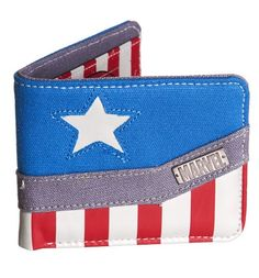 Captain America Logo Canvas Wallet (boyfriend gift ideas) Taylor A and B need this! The Sims, Sims 4, Captain America Merchandise, Captain America Logo, Marvel Gifts, Captain American, Geek Fashion, Marvel Fashion, Marvel Clothes
