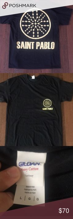 Saint Pablo All black and gold saint pablo shirt fits really well it's true to size also Gildan Shirts Tees - Short Sleeve