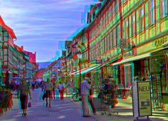 Wernigerode Boulevard ::: Dubois-Anaglyph HDR 3D