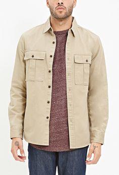 Two-Pocket Cotton Shirt