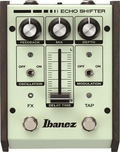 ES2: To the fans of analog delay pedals: Your prays are answered. With the introduction of the ES2, Ibanez combines true analog sound quality with digital-like flexibility; features like a tap-tempo footswitch, allowing on-the-fly tempo adjustment (a rarity among analog stompboxes). The ES2 also offers an infinite variety of sonic possibilities, with features like an oscillation switch, feedback control, modulation, and a depth control that promises miles of creative inspiration