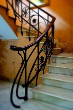 art nouveau staircase | Art Nouveau staircase at Circulo Industrial, Alcoy, Spain | Flickr ...