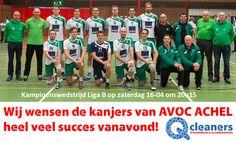 Succes voor de kanjers van Avoc Achel! Ze kunnen kampioen worden. #Qcleaners #proud #sponsor