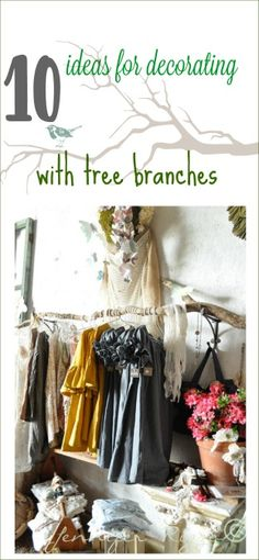 10 ideas for decorating with tree branches